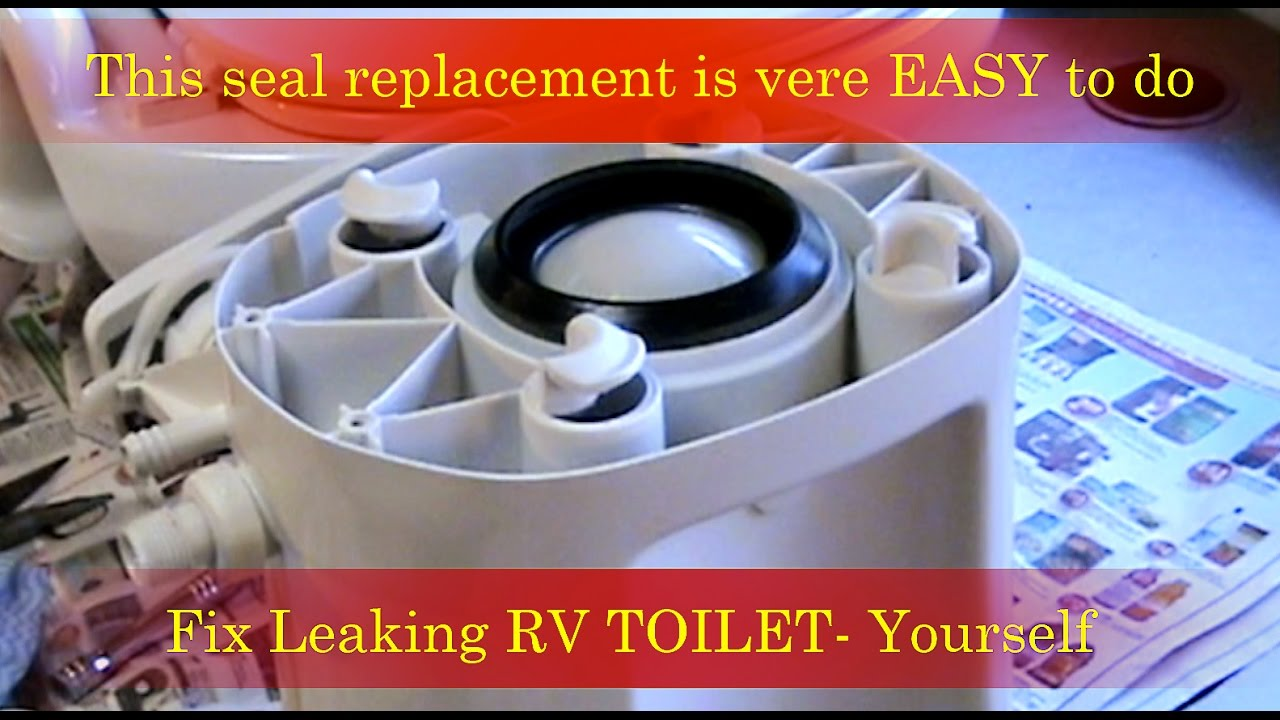 Repair leaking RV Toilet - New Gasket Replacement