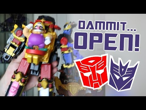 Dammit, Open: Wario Body Goals! Transformers, Power Rangers & Gundam Unboxing!
