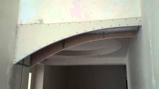 арка из гипсокартона, монтаж и белый вариант. Plasterboard arch installation.(простая арка классический монтаж. Вычисление неизвестного радиуса трем точкам : по длине сегмента и его..., 2014-06-01T08:32:22.000Z)