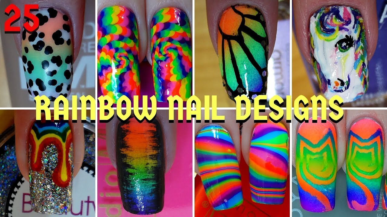 25 Best Rainbow Nail Art Designs   Nail Art Compilation #9