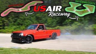 Drifting the ULTIMATE V8 DRIFT TRUCK at USAIR Raceway!!!