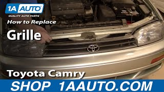 How To Install Replace Damaged Front Radiator Grille Toyota Camry 92-94 1AAuto.com