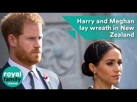 Prince Harry and Meghan lay wreath in New Zealand
