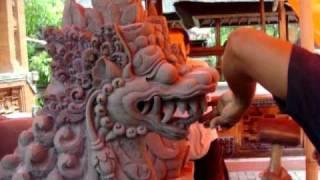 Male Dragon Sculpturing at Jlih Lambih Temple Pekambingan