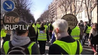 LIVE: Yellow Vest protest hit the streets of Paris