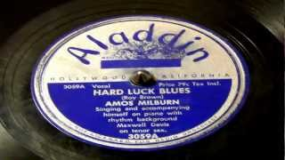 Hard Luck Blues - Amos Milburn (Aladdin)