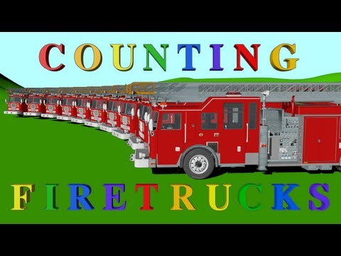 Number Counting Firetrucks - Learning for Kids