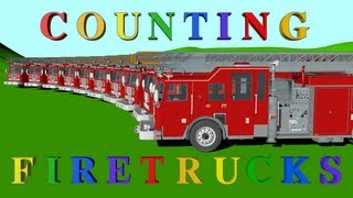 Cover images Number Counting Firetrucks - Learning for Kids