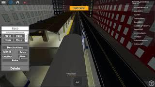 (Primer video con roblox) Subway train simulator tren R160A