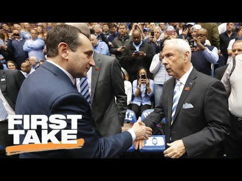 Would You Rather Play For Roy Williams Or Coach K? | First Take | April 4, 2017