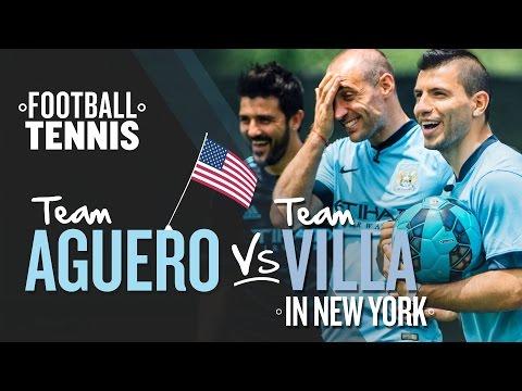 FOOTBALL TENNIS | Team Aguero v Team Villa | New York Challenge 1