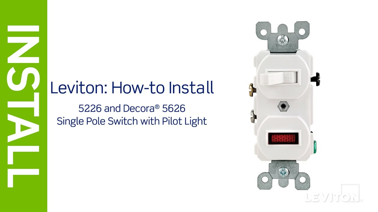 leviton presents how to install a combination device with a pilot light and single pole switch [ 1280 x 720 Pixel ]