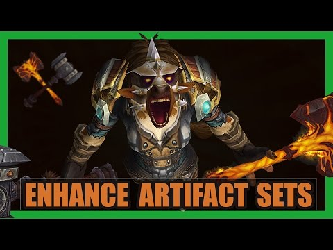 10 Cool Enhancement Shaman Artifact Sets WoW Legion | Doomhammer Transmog