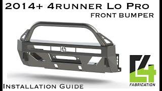 2014+ 4runner Lo Pro installation guide