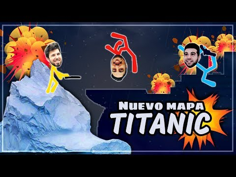 NUEVO MAPA TITANIC EN STICK FIGHT  (WILLY VS FARGAN VS VEGETTA)