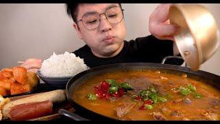 고추순대국밥 이것이 진정한 먹방이지 시골고추 맛사운드 Sundae rice soup mukbang Legend koreanfood asmr