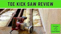 Toe Kick Saw - Subfloor Flush Cut to Wall Demo
