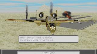 Sierra's Silent Thunder: A-10 Tank Killer II - Gameplay - Gulf - Mission 1: Strike Back