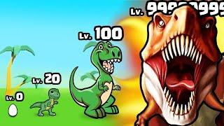 GROWING the STRONGEST DINOSAUR T-REX in Dinosaur attack simulator 3D