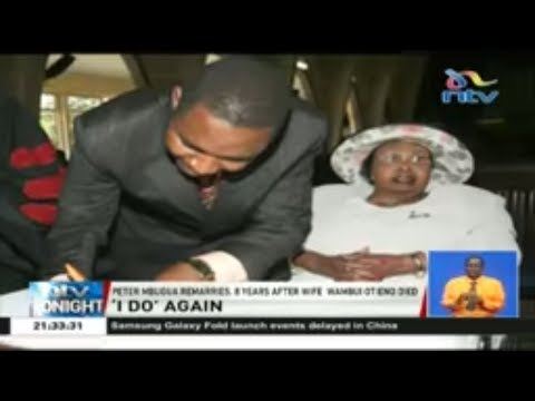 Peter Mbugua remarries 8 years after wife Wambui Otieno died