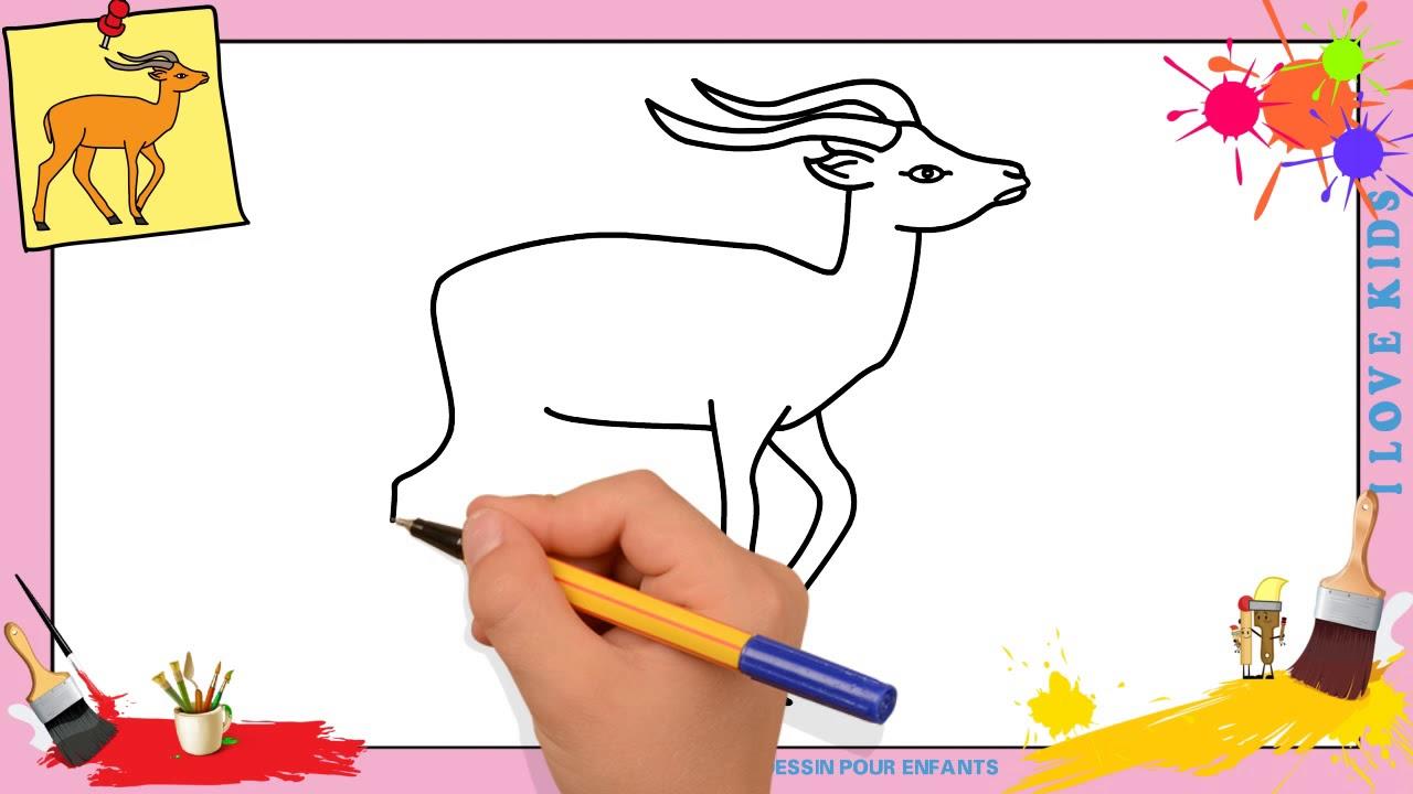 Dessin gazelle facile comment dessiner une gazelle facilement youtube - Gazelle dessin ...