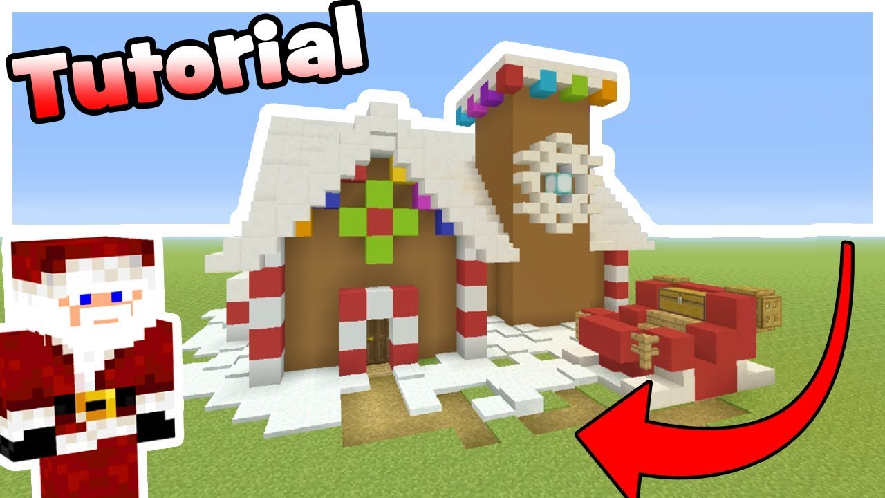 Christmas Minecraft Santa.Minecraft Tutorial How To Make Santas House Christmas House Tutorial