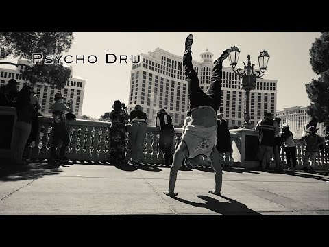 Las Vegas Day in the Life Psycho Dru ft. Tylon the 1 Hip Hop Acrobat & Aussie Hunks - 2016