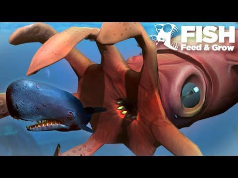 NEW GIANT SQUID EATS SPERM WHALE!!! - Fish Feed Grow