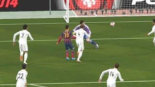 real madrid vs barcelona fc un partido lleno de goles en el super clasico pes 2014 gameplay