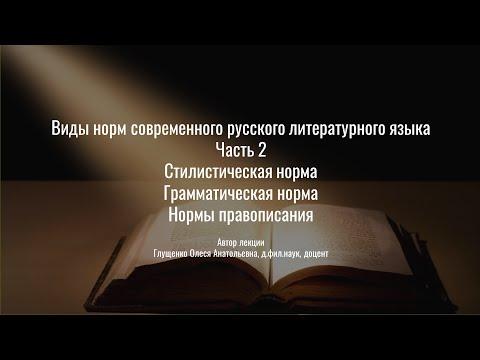 2. Виды норм современного русского языка. Часть 2