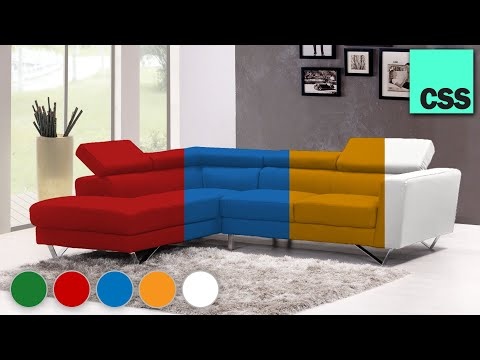 How To Change Sofa Color With Pure CSS!