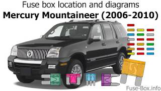 Fuse box location and diagrams: Mercury Mountaineer (2006-2010) - YouTubeYouTube