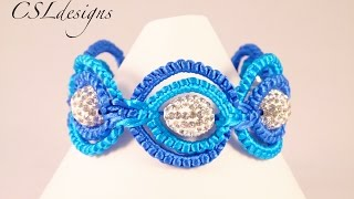 Repeat youtube video Double circle macrame bracelet