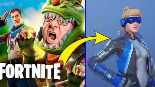 MY COLLECTION OF SKINS AT FORTNITE | INVERSE NEO