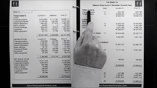 Tutorial 06 Finance - Balance sheet review part 3. Assets section of a balance sheet reviewed.