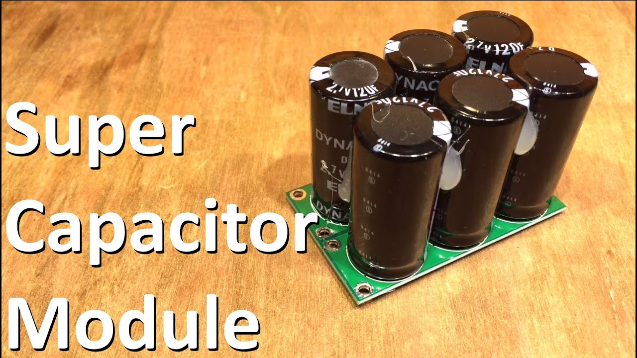 Super Capacitor Module 12v Solar Shed Youtube