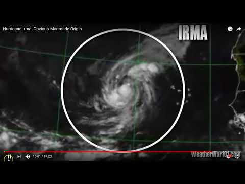 Hurricane IRMA Hit By Directed Energy Weapon - Satellite Footage