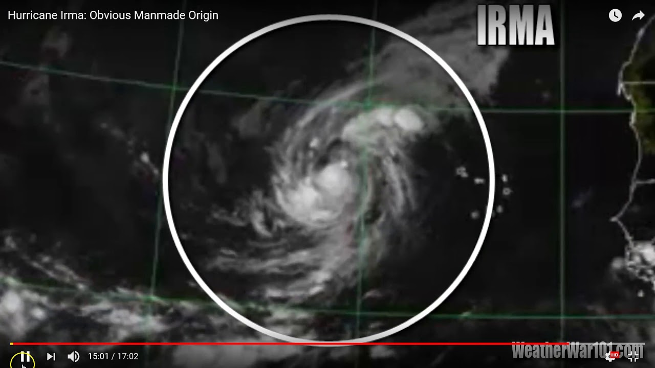 Hurricane IRMA Hit By Directed Energy Weapon Satellite Footage - Satellite footage