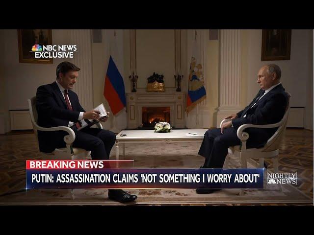 Ruský prezident poskytl velký rozhovor americké televizní stanici NBC.