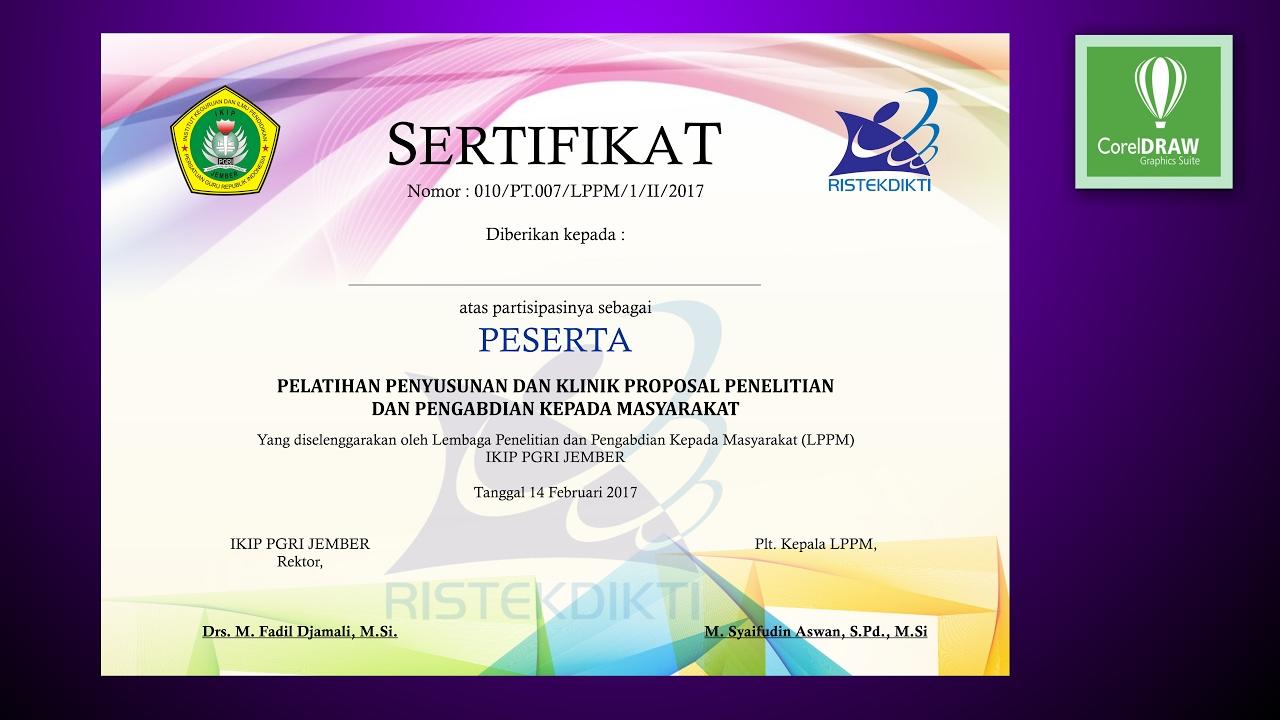 Tutorial Coreldraw - design sertifikat - YouTube