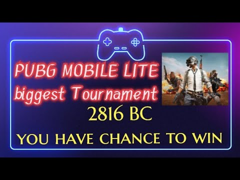 PUBG MOBILE LITE biggest Tournament || Total 2816 BC winning 🏆 chance || do not miss this chance