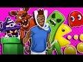 Gmod D-Run Funny Moments - The Gametrix, FNAF, Minecraft, Pacman, LoL, Super Mario!