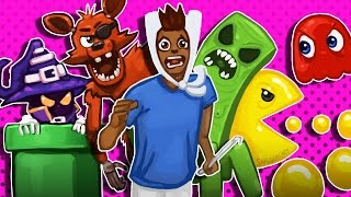 Gmod D-Run Funny Moments - The Gametrix, FNAF, Minecraft, Pacman, LoL, Super Mario! thumbnail