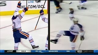 Gretzky and McDavid's first NHL goals compared