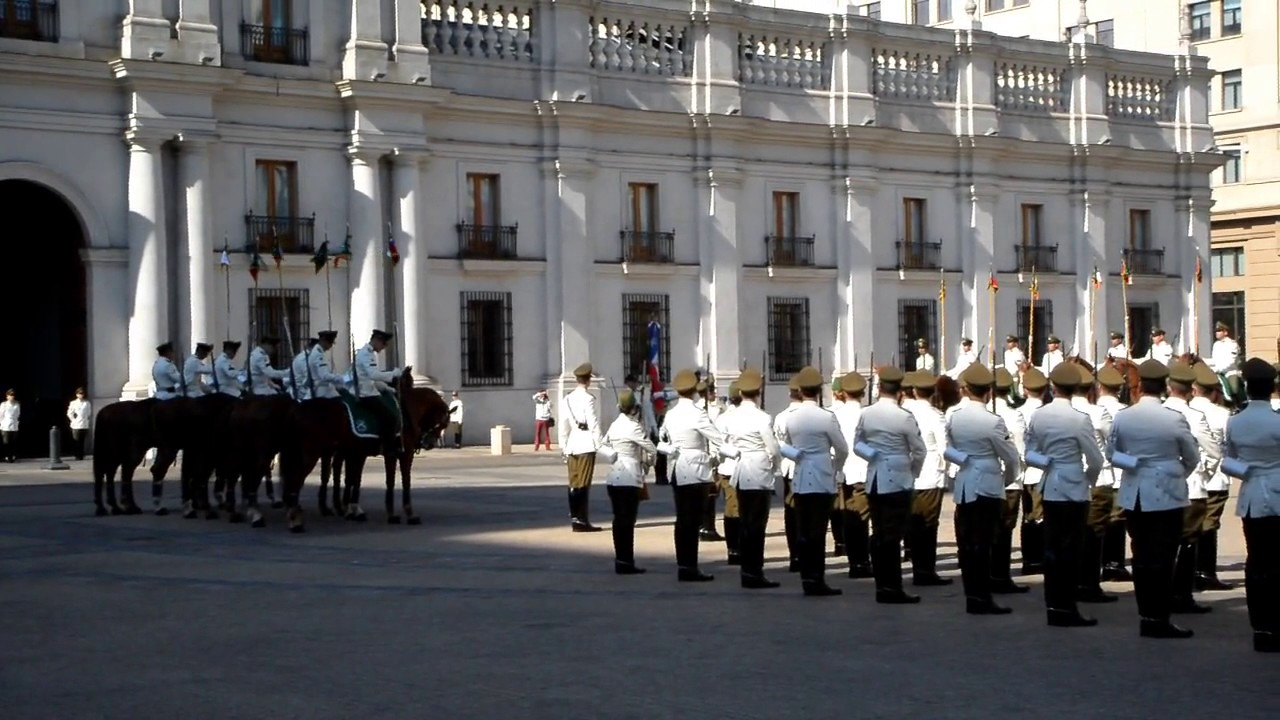 Changing of the Guard at La Moneda Presidential Palace - Santiago, Chile  2016
