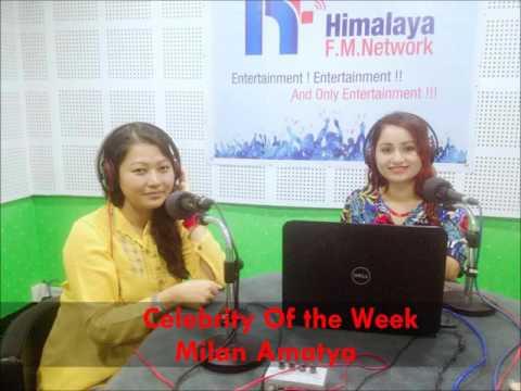 "Milan Amatya W' RJ Sushma On ""Celebrity Of The Week"" @ Himalaya Fm Network"