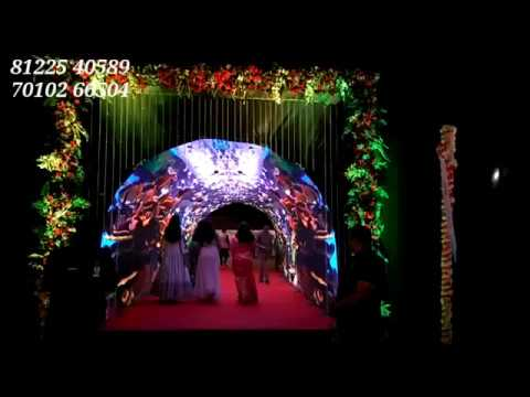 Tunnel LED video wall screen Aquarium Theme New concept Event Rental Decoration India 8122540589 (WA)