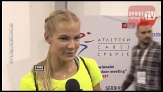 Darya Klishina Дарья Клишина 2017 2v Serbian open indoor Feb 18th