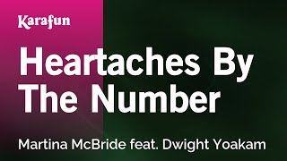 Karaoke Heartaches By The Number - Martina McBride *