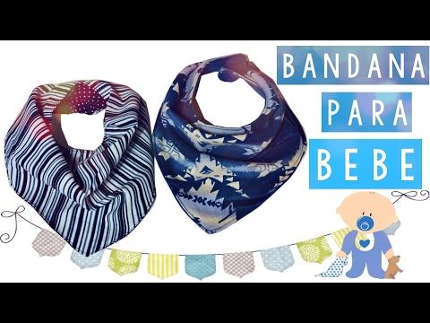 COMO HACER UN BANDANA PARA BEBES (PATRON GRATIS) | Danii † s Ways